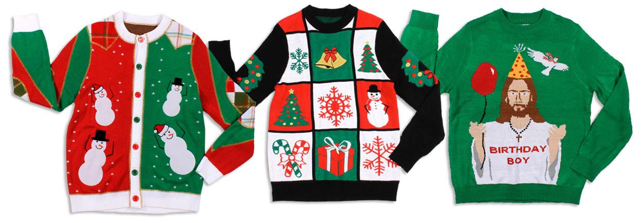featured merchandise - Cheap Mens Ugly Christmas Sweater